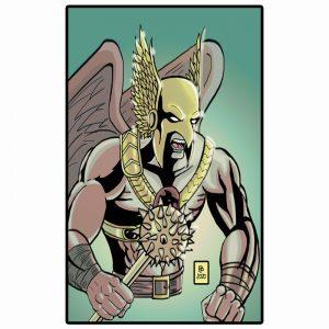 Hawkman Colorazione digitale in A4
